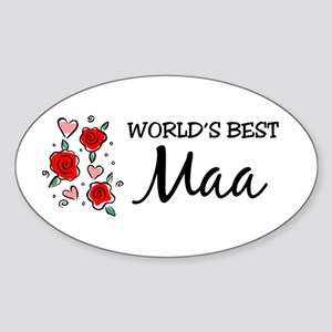 WB Mom [Hindi] Oval Sticker